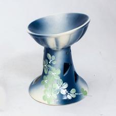 Аромалампа Английская 11х13 см Цветы в ассортименте бело-синяя